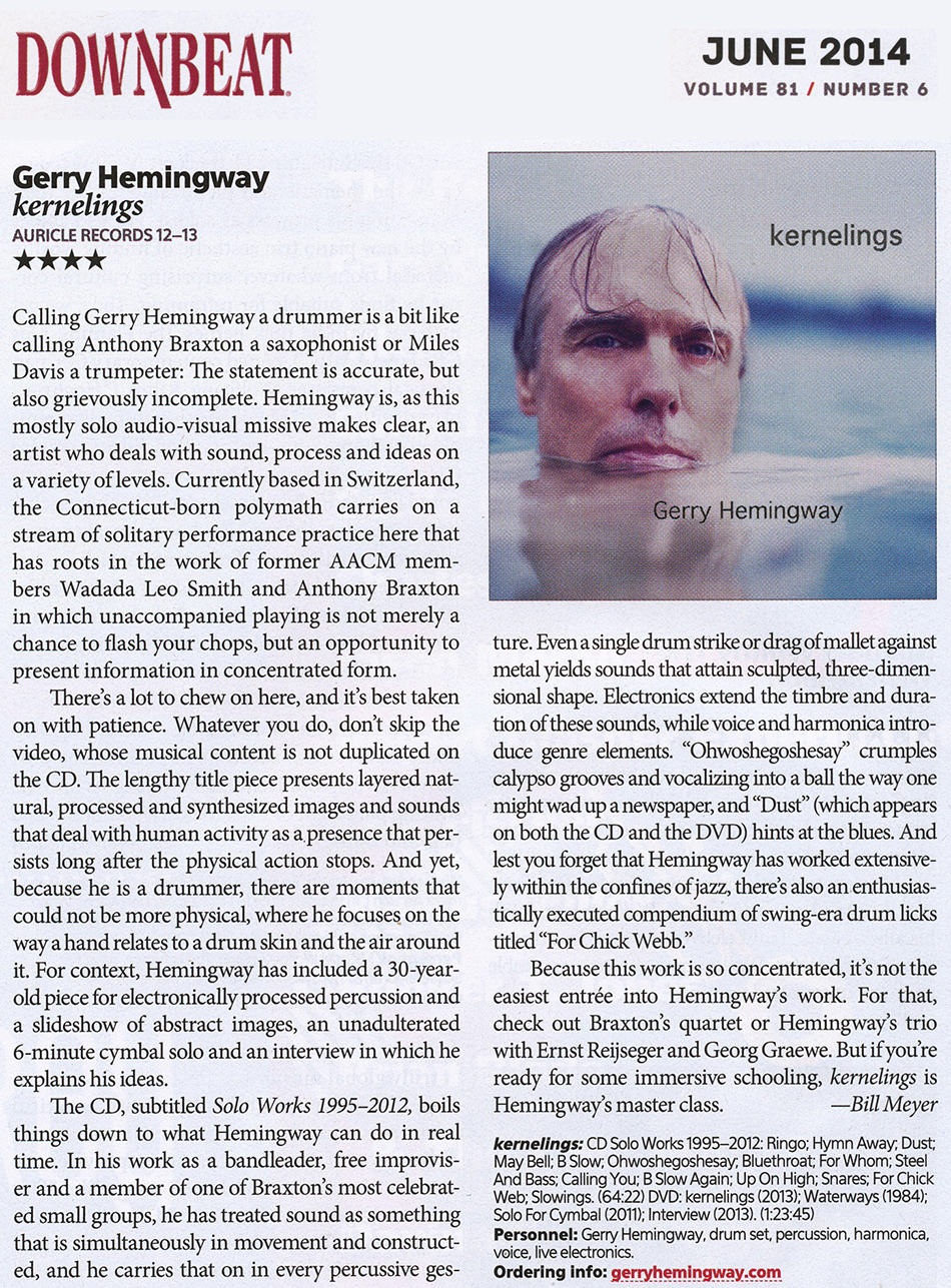 kernelings review in Downbeat